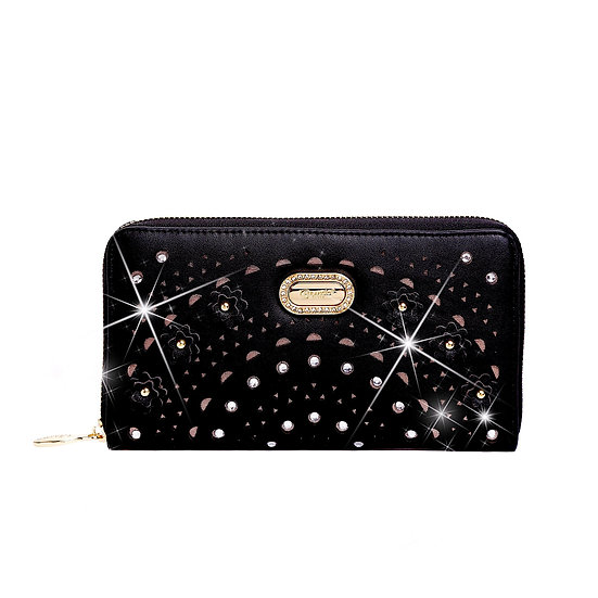 Rosè Twinkle Star Womens Mini Phone Bag and Wallet Multiple Pockets