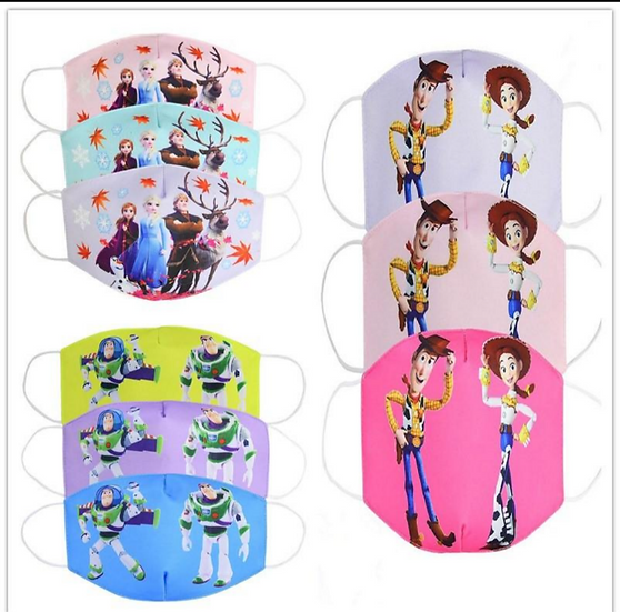 Frozen & Toy story Kids Face Masks