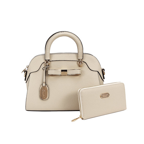 Desert Bow Matching Handbag + Matching Wallet Set