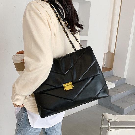 Large Vintage Leather Crossbody Bag