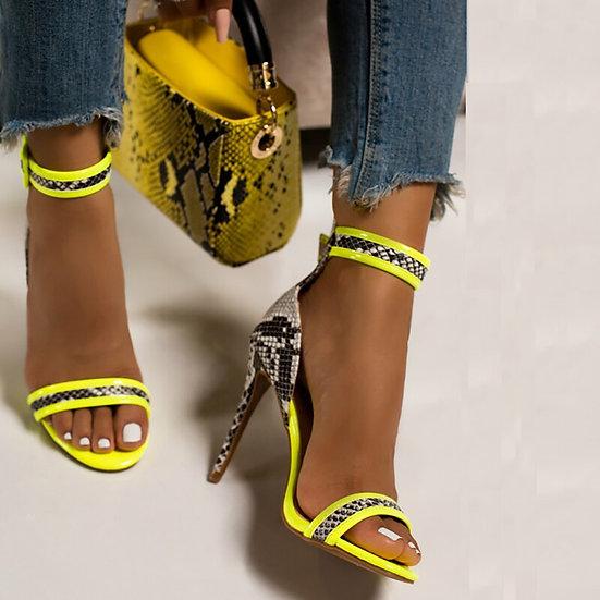 Ladies Snake Heels