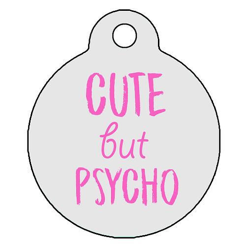 "Adresówka ""Cute but Psycho"" róż"