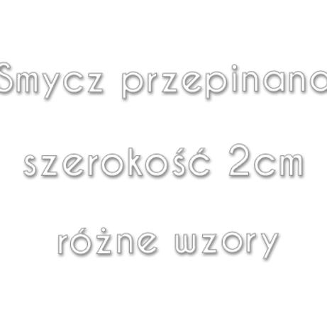 Smycz przepinana 2cm (RÓŻNE WZORY)