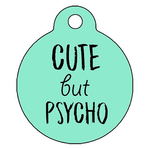 """Adresówka """"Cute but Psycho""""mięta"""