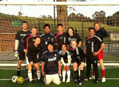 Alumni Soccer Team Helps to Raise $1,200 for Japan