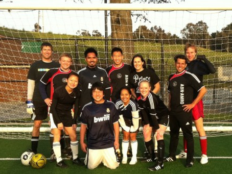 Alumni Soccer Team Helps to Raise $1,200 for Japan