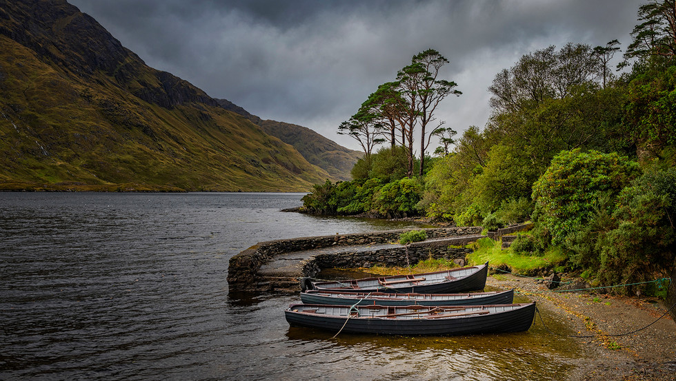COLOUR - Doolough Fishing Boats by Matthew Canning (10 marks)