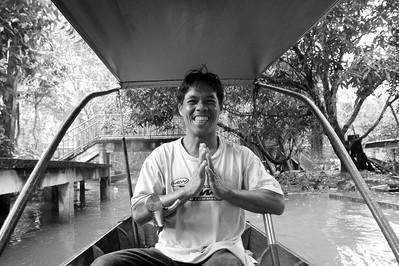 jardín flotante, damnoen saduak, thailand
