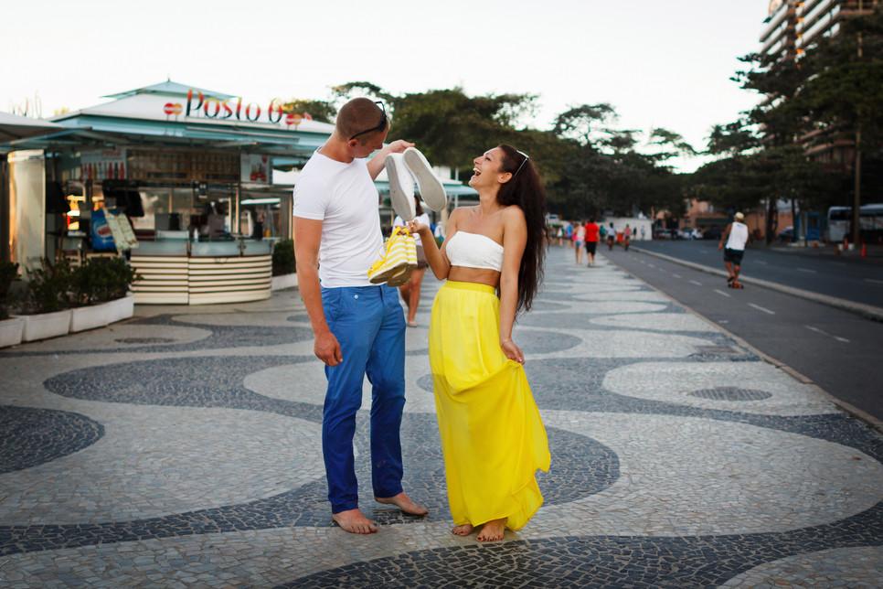фотосессия на Копакабане в Рио-де-Жанейро