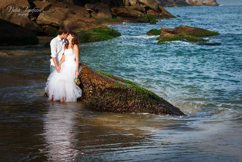 Свадебная фотосессия на Красном пляже Рио де Жанейро