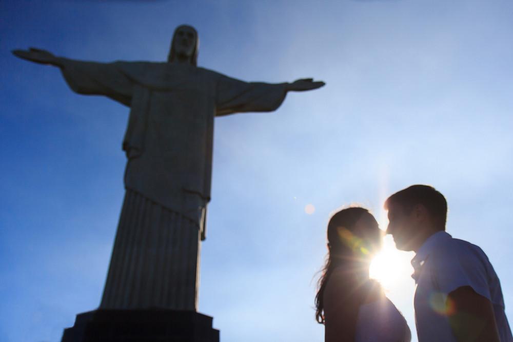 Свадьба в Рио-де-Жанейро свадебная фотосессия на Корковадо у статуи Христа