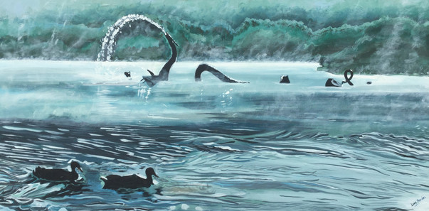 The Fabulous Water Beast and Two Ducks
