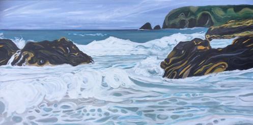 The Sea at Llangranog 4