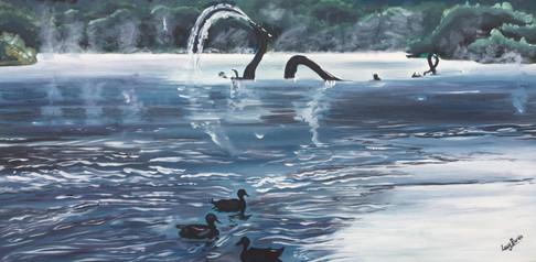 The Fabulous Water Beast and Three Ducks