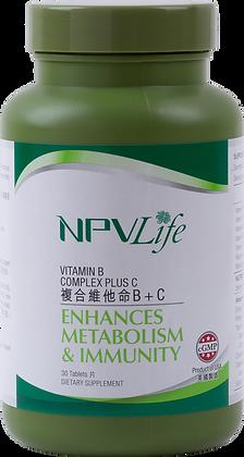 NPVLife 複合維他命B + C (30片)(EAN: 840011720104)