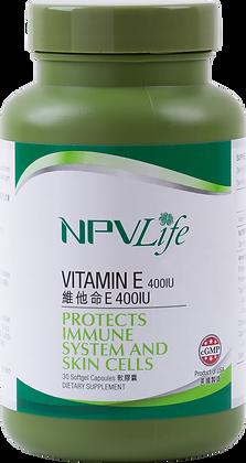 NPVLife 維他命E 400IU (30粒軟膠囊)(EAN: 840011720128)