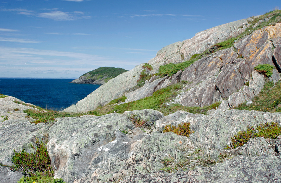 Sculpted granite shore of the Avalon Peninsula, Newfoundland