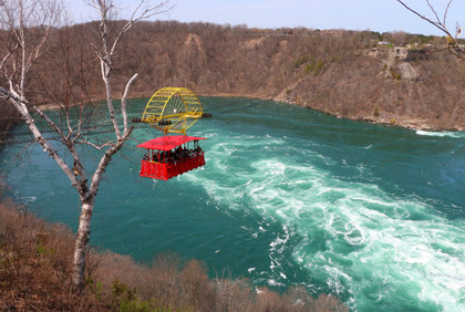 The aero car over the whirlpool in Niagara Falls has been operating since 1916.