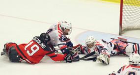 Team Canada vs. Team USA in Paralympic Sledge Hockey
