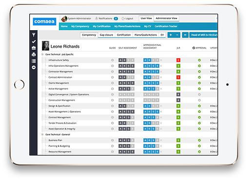competency assessor screenshot