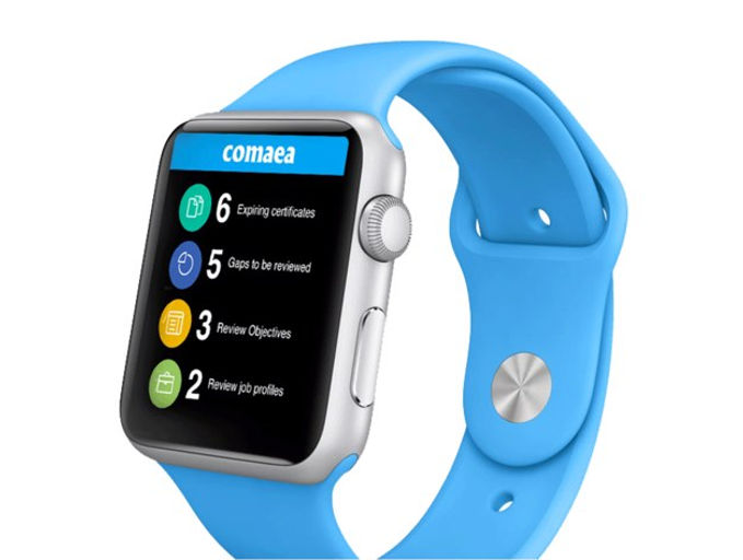 Comaea on an apple watch