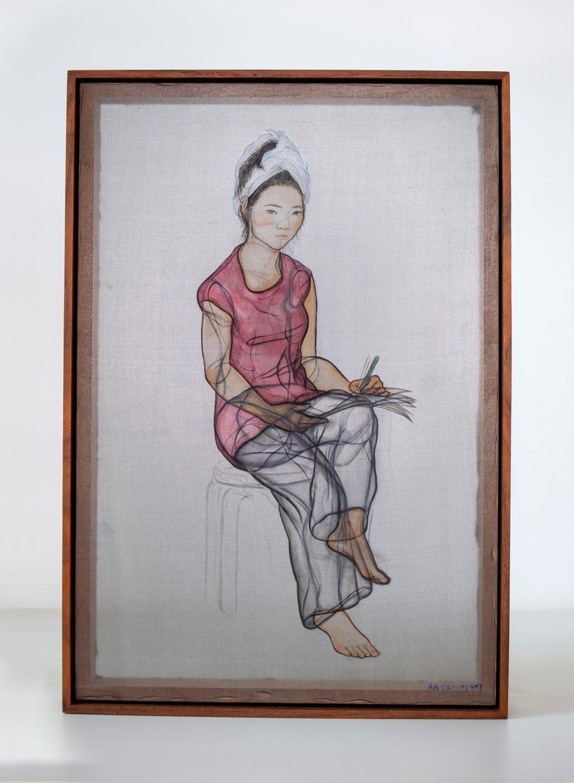 Mirror Portrait with a Turban, 2019