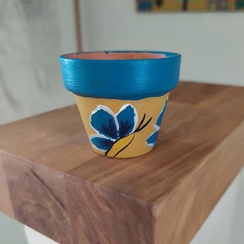 Mini Terracotta Pot - Butterfly