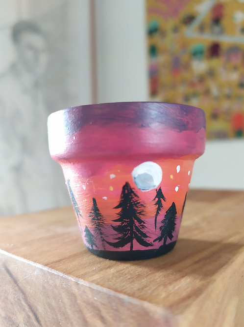 Mini Terracotta Pot - sunset