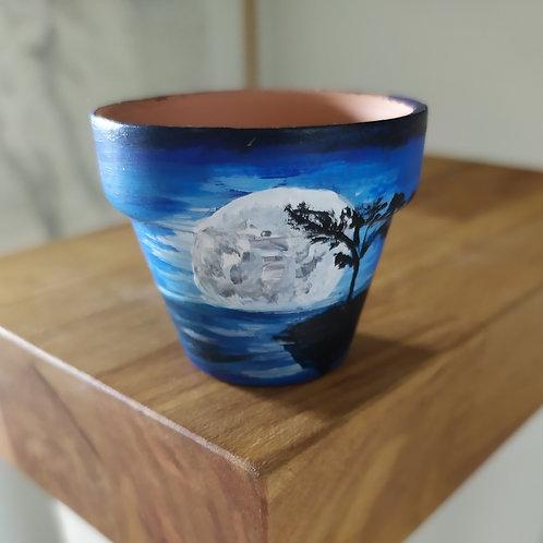 Mini Terracotta Pot - moon