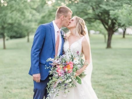 Kelsey + Kyle | Central Illinois Wedding Photographer | Colorful Wedding