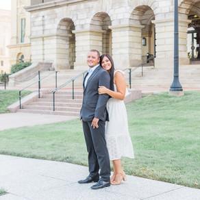 Kelsey + Matt   Springfield, Illinois Engagement Photographer   Downtown Springfield