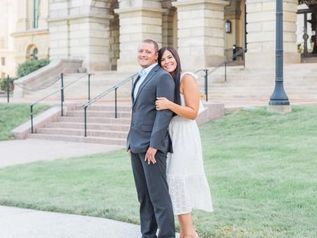 Kelsey + Matt | Springfield, Illinois Engagement Photographer | Downtown Springfield