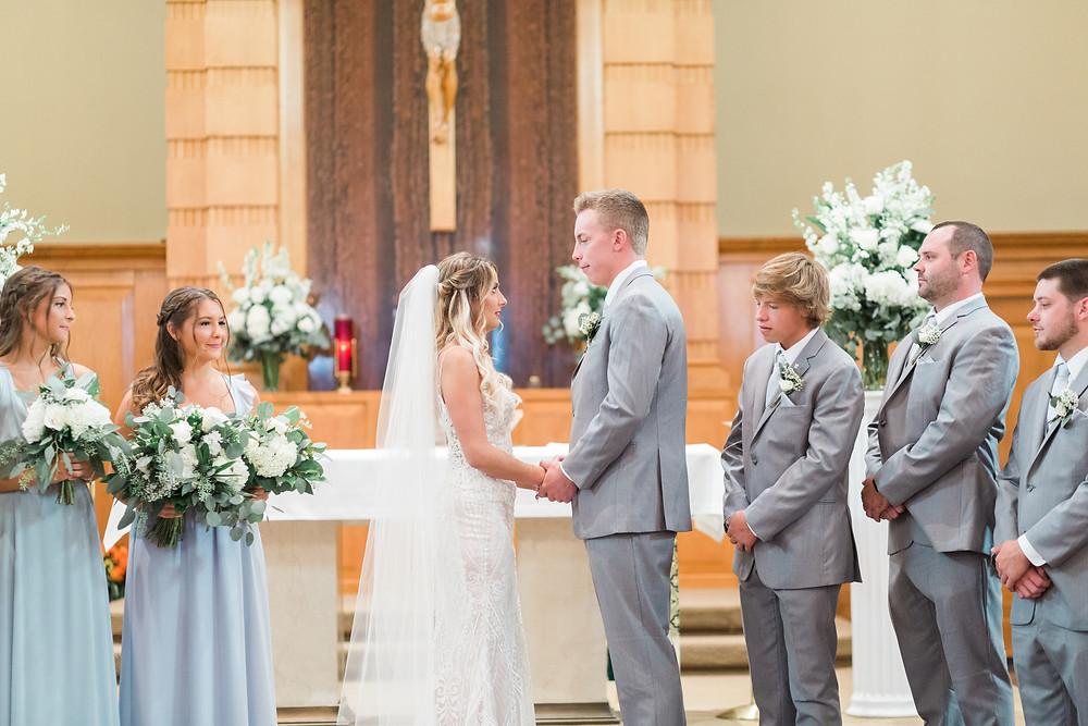 st aloysuis Catholic Church wedding Springfield Illinois