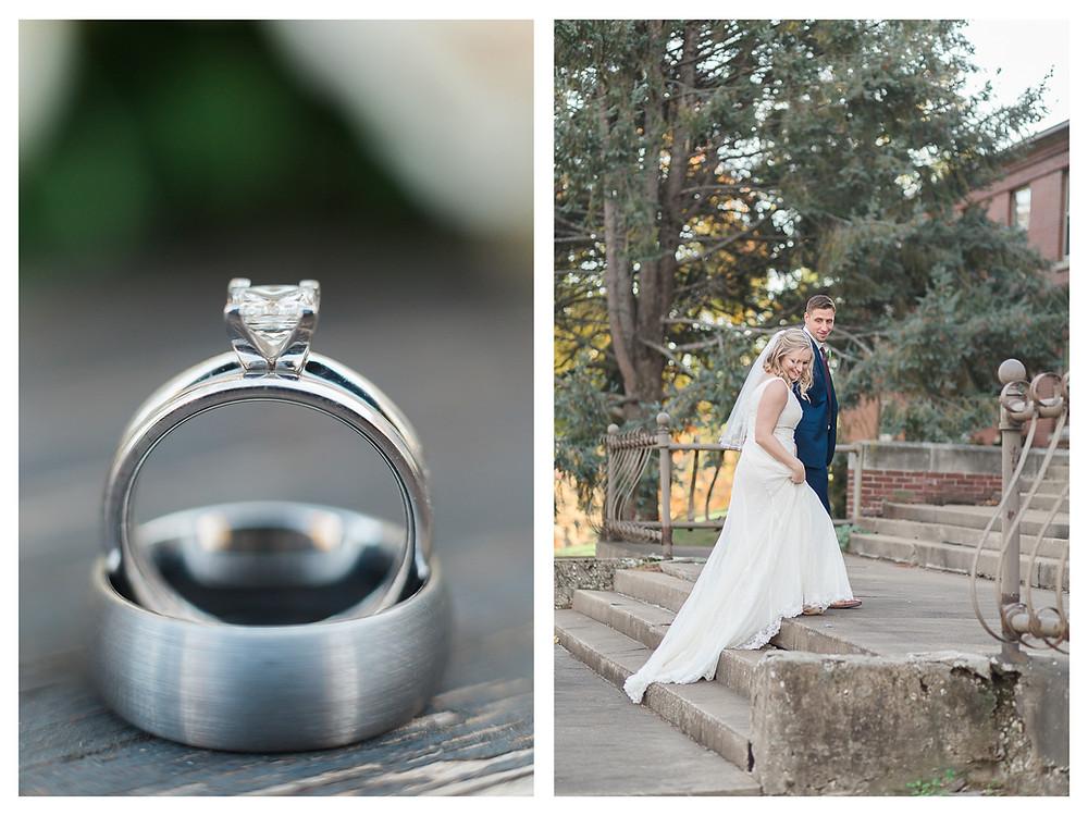 fall wedding couple central illinois photographer
