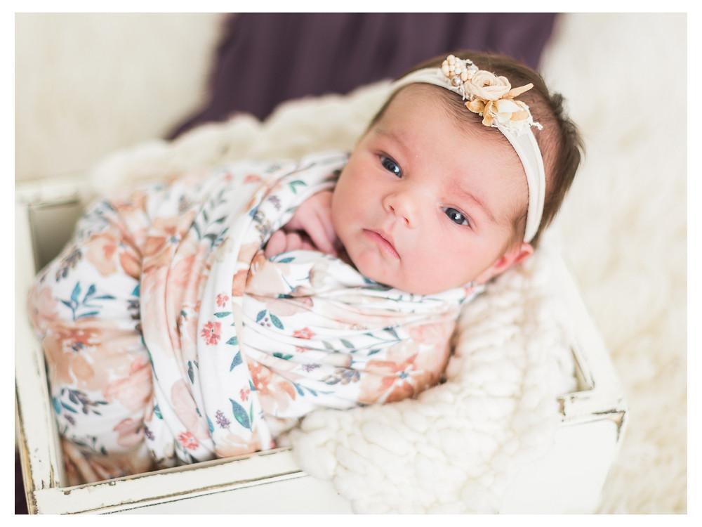 newborn girl awake photos