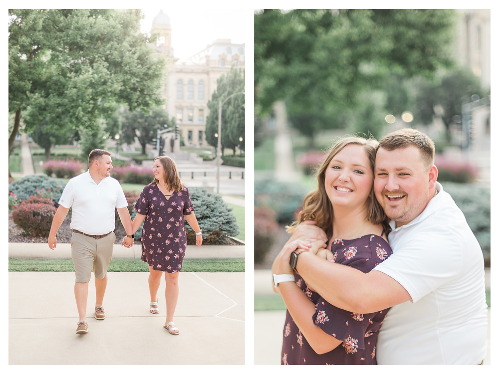 engaged couple state capitol