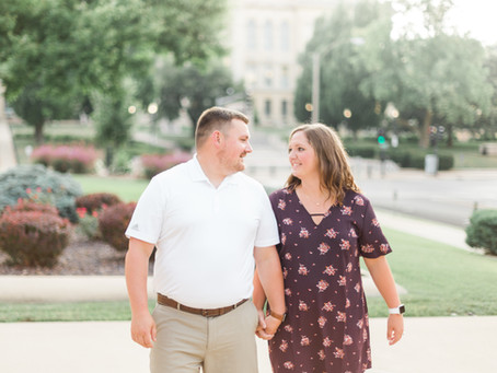 Lesley + Trent   New State Capitol   Springfield, Illinois Engagement Photographer