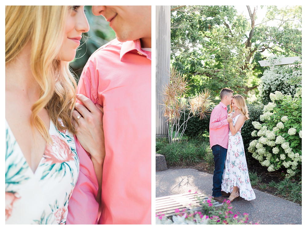 engagement session in Springfield illinois at washington park