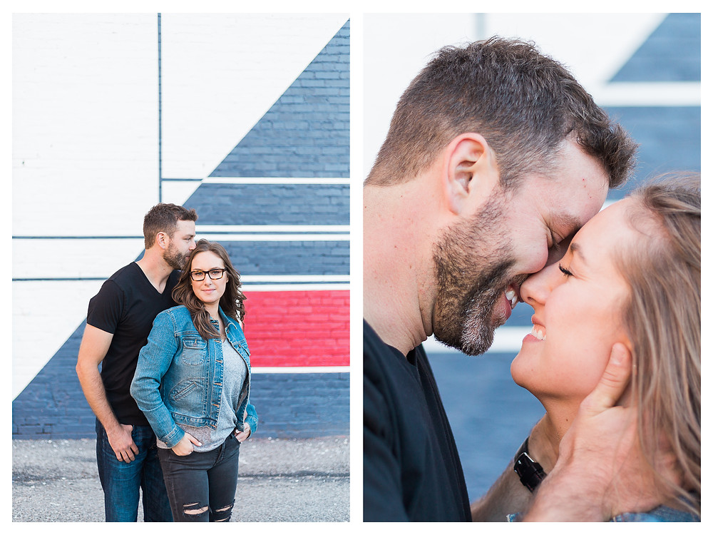 downtown architecture in Springfield illinois. couples engagement session