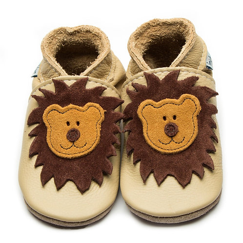 Inch Blue Leo Lion Soft Leather Shoes