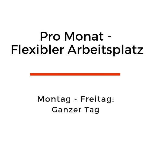 Pro Monat flexibler Arbeitsplatz