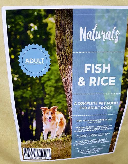 Naturals Fish & Rice 12kg