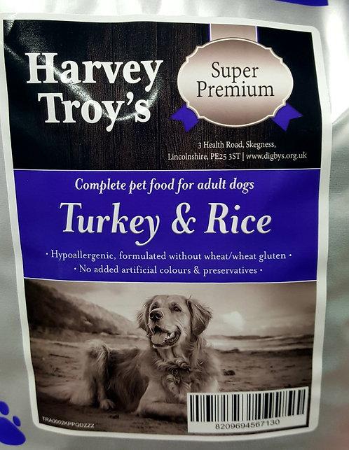 Harvey Troys Super Premium Turkey & Rice 12kg