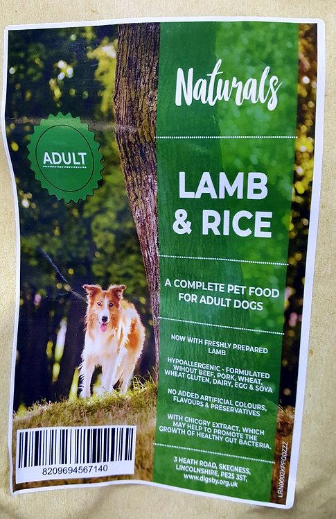 Naturals Lamb & Rice 12kg