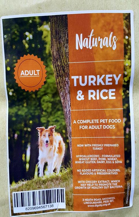 Naturals Turkey & Rice 12kg