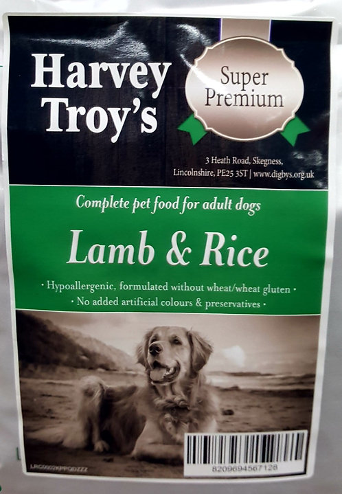Harvey Troys Super Premium Lamb & Rice 12kg