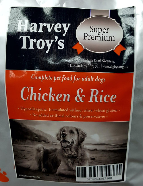 Harvey Troys Super Premium Chicken & Rice 12kg