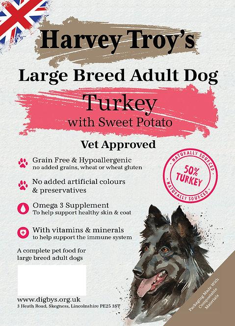 Harvey Troys Grain Free Large Breed Turkey 15kg