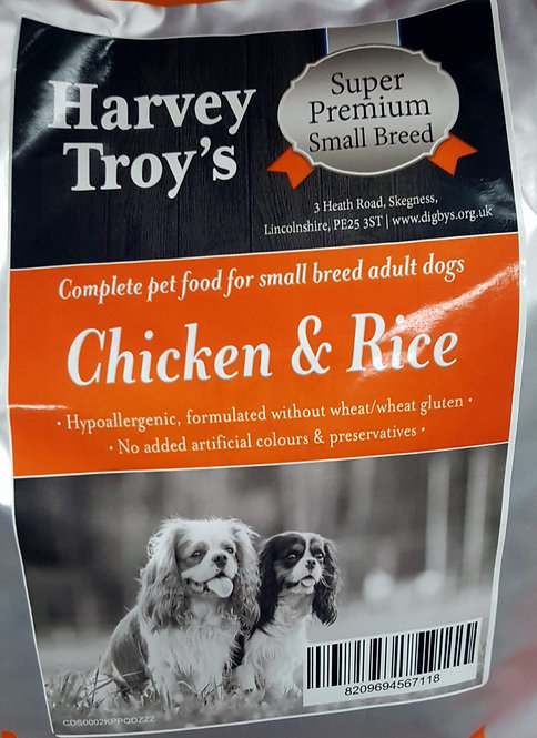 Harvey Troys Super Premium Small  Breed Chicken & Rice 6kg