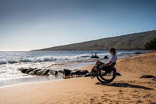 Wheelchair guest on the beach